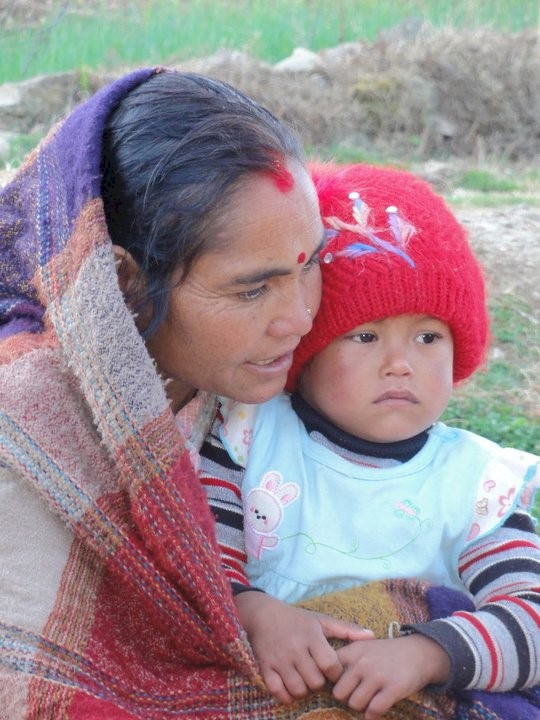 Nepali Mother and Child