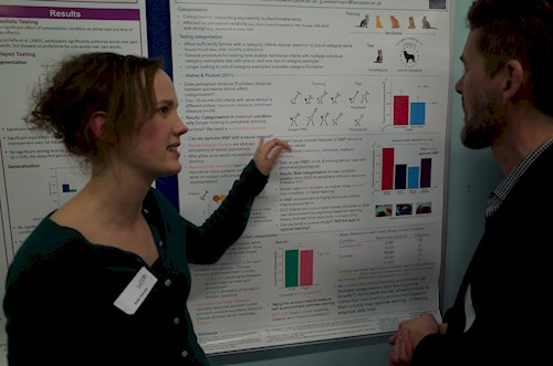 Dr Katie Twomey presenting a poster